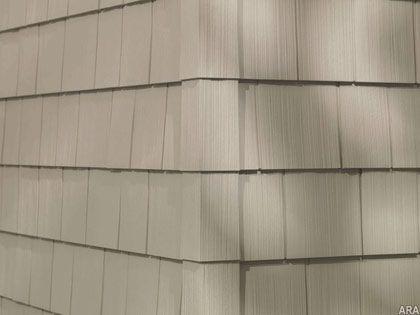 Shingle look vinyl siding e x t e r i o r s pinterest for Siding that looks like wood shingles