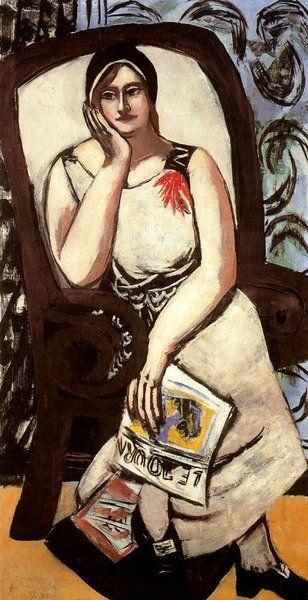 Max Beckmann >> Retrato de Minna Beckmann-tubo 1  |  (, obra de arte, reproducción, copia, pintura).