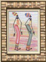 Вышивка Африканские девушки