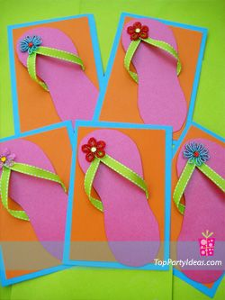 Inspiration for the flip flop name tags we used for a flip flop themed first birthday