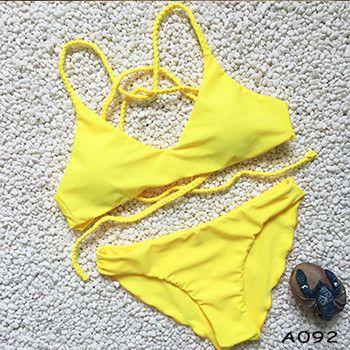 Bikinis Women Print Sexy Bikini Floral Retro Swimsuits Women Push Up Bikini Sling Swimsuit Swimwear Bathing Suit