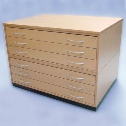 Wooden Plan Chest Traditional - A1 - 9 Drawer Light Oak - Furniture & Storage - F - O - All Categories