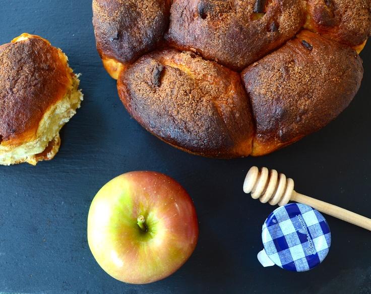 apples and honey challah #recipes #apples #honey #kosher #roshHashanah