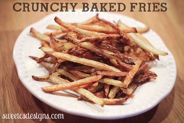 Crunchy Baked Fries: Lighter Alternative, Fries Recipes, Baking Fries, Delicious Alternative, Baking French Fries, Delicious Cooking, Favorite Recipes, Crunchi Baking, Delicious Food
