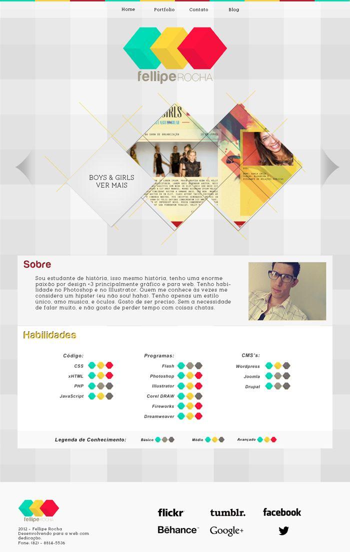 interesting layout of skills  Inspiração Web: Portfólio dos Leitores #1 | Choco la Design