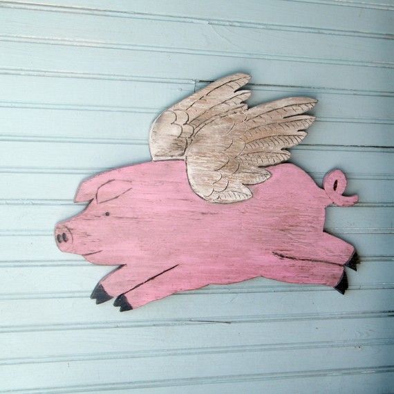 Flying+Piggy+When+Pigs+Fly+Pig+with+Wings+by+SlippinSouthern,+$59.00