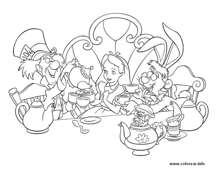 93 best alice in wonderland adult coloring pages images on ... - Alice Wonderland Coloring Pages
