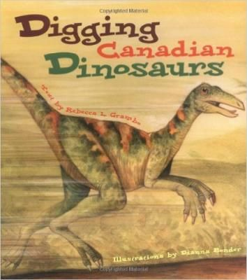 Digging Canadian Dinosaurs! Many of the most amazing dinosaurs on earth lived in what is now Canada. Nova Scotia claims some of the oldest dinosaur bones. Dinosaur footprints have been found in the Rocky Mountains, Tyrannosaurus rex bones have been found in Saskatchewan, and Alberta is a gold mine for fossils with over 35 species alone in Dinosaur Provincial Park. Digging Canadian Dinosaurs investigates the diverse species of dinosaurs that lived in prehistoric Canada.