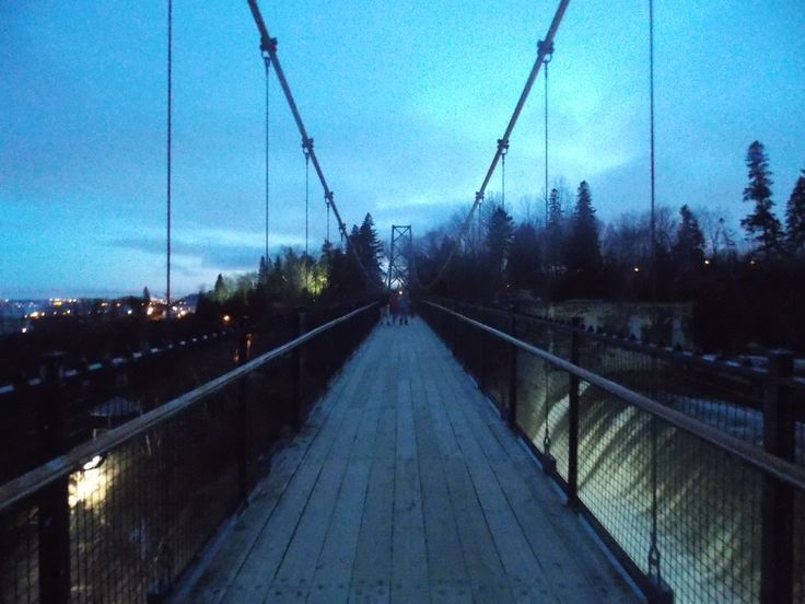 The Montmorency falls suspension bridge