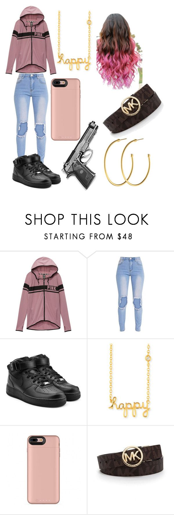 """Untitled #205"" by halo124 on Polyvore featuring Victoria's Secret, NIKE, Sydney Evan, Michael Kors and Dyrberg/Kern"