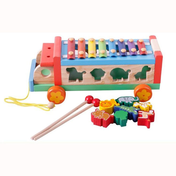 Baby Colorful Block Toy Matching Blocks Kids Intelligence Educational animal elephant Percussion music piano car Toy gift