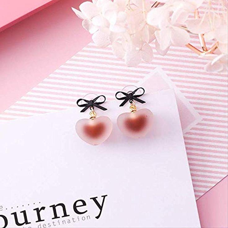 Koreanische Mädchen Einfache Mode Niedlichen Ohrringe Silber Nadel Candy Jelly …