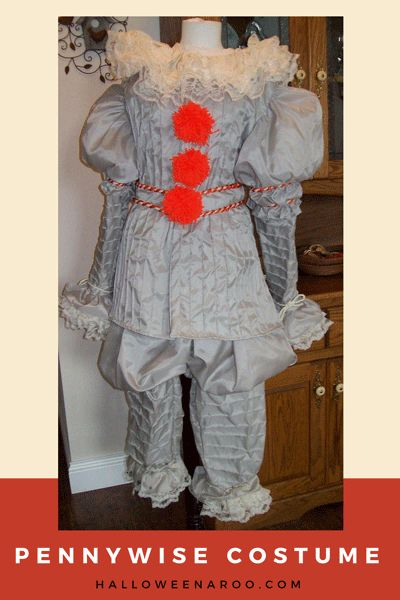 """Dress up in a Pennywise costume, Stephen King's killer clown from """"It"""" and prepare to terrify the children in your neighborhood!"""
