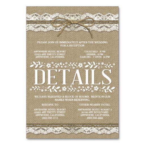 1000 Ideas About Burlap Wedding Invitations On Pinterest