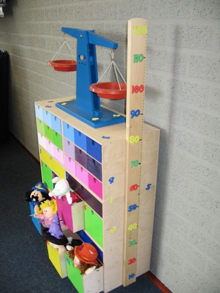 REKENKASTJE (gemaakt van Ikea Moppe Kastjes)