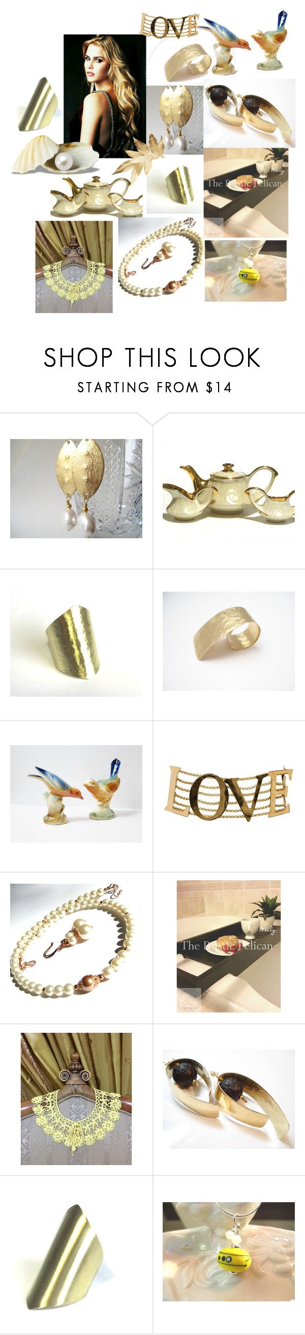 Golden Touch on Etsy by anna-recycle on Polyvore featuring Anello, Dolce&Gabbana, modern, rustic and vintage