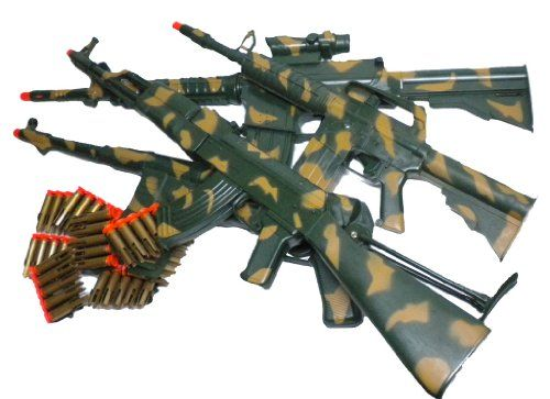 Kids Military Camo AK47 M16 M4 MP40 M60 Rifle Dart Machine Guns Big Collection | nerf scope