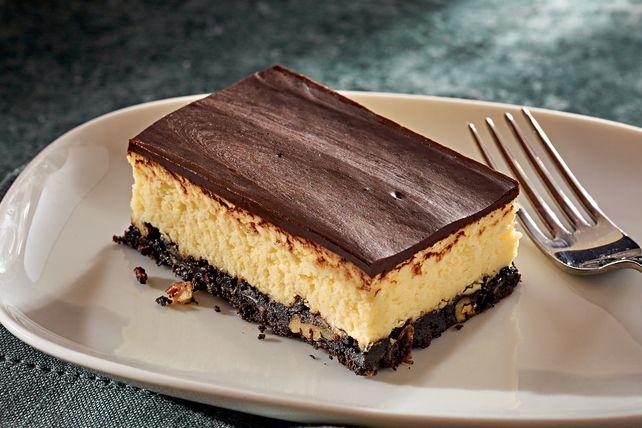 Vous aimez les barres Nanaimo? Nous avons concocté ce gâteau au fromage, qui en est inspiré. Une véritable idée de génie!