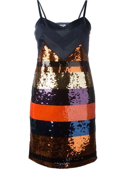 Shop Sonia By Sonia Rykiel stripe sequin dress.