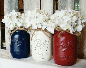 Los tarros de masón pintado y angustiado. Mason Jar Home