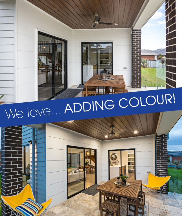A touch of colour can make all the difference!