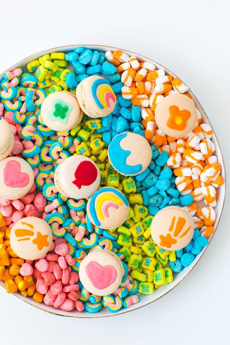 DIY lucky charms macarons by top Houston lifestyle blogger, Ashley Rose of Sugar and Cloth // @SugarAndCloth