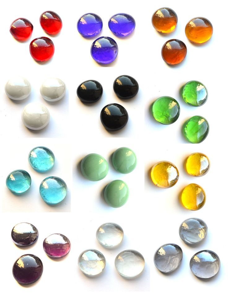 Glass game counters, available in lots of colours!