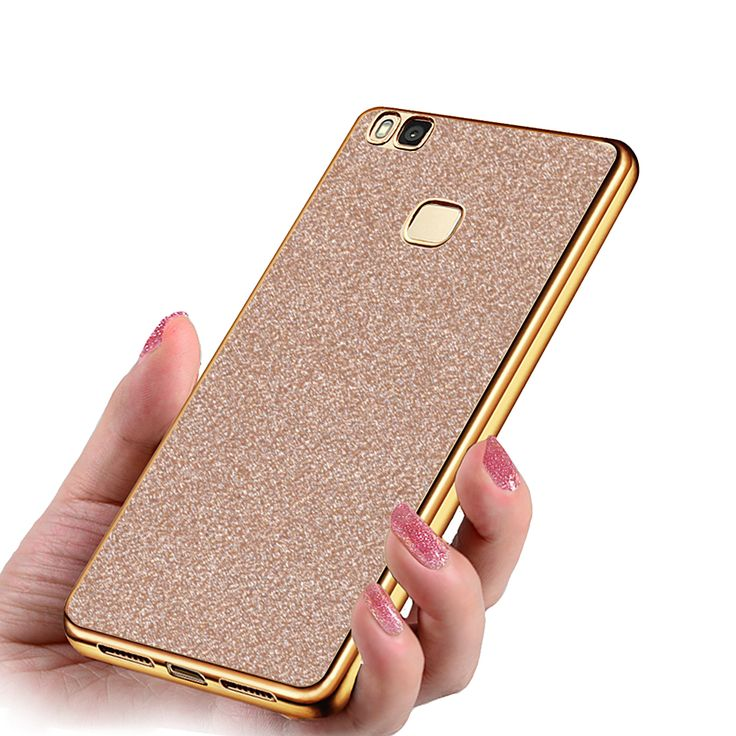 Ultra Thin Glitter Bling Soft Silicone Phone Cases For Huawei Ascend P9 Lite Case Phone Funda cover For Huawei p9 lite case