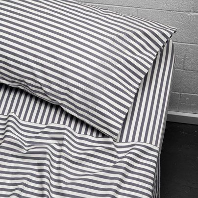 Umbrella Stripe Single bed sheet set Smoke