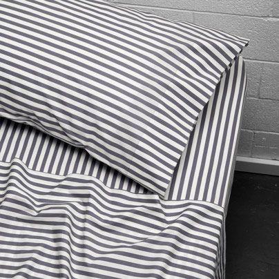 Umbrella Stripe Single bed sheet set Smoke