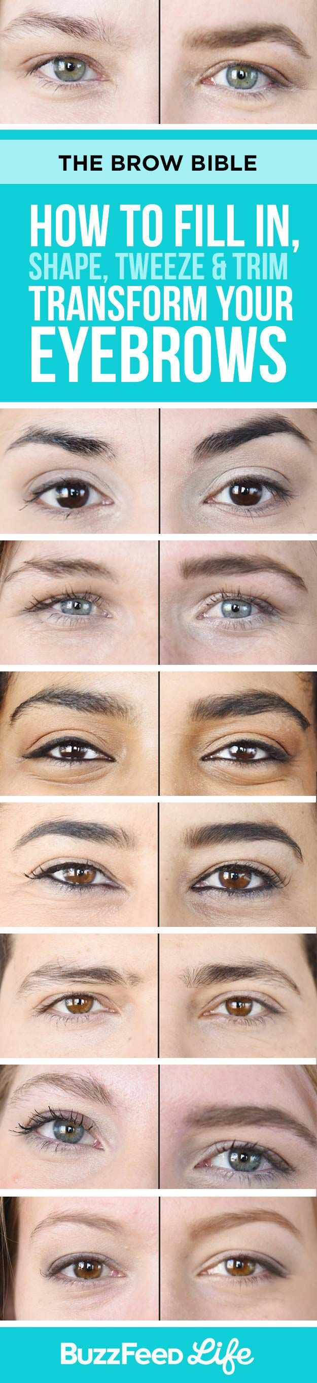 Brow Shaping Tutorials - Fill in, Shape, Tweeze, Trim and Transform Your Eyebrows - Awesome Makeup Tips for How To Get Beautiful Arches, Amazing Eye Looks and Perfect Eyebrows - Make Up Products and Beauty Tricks for All Different Hair Colors along with Guides for Different Eyeshadows - thegoddess.com/brow-shaping-tutorials