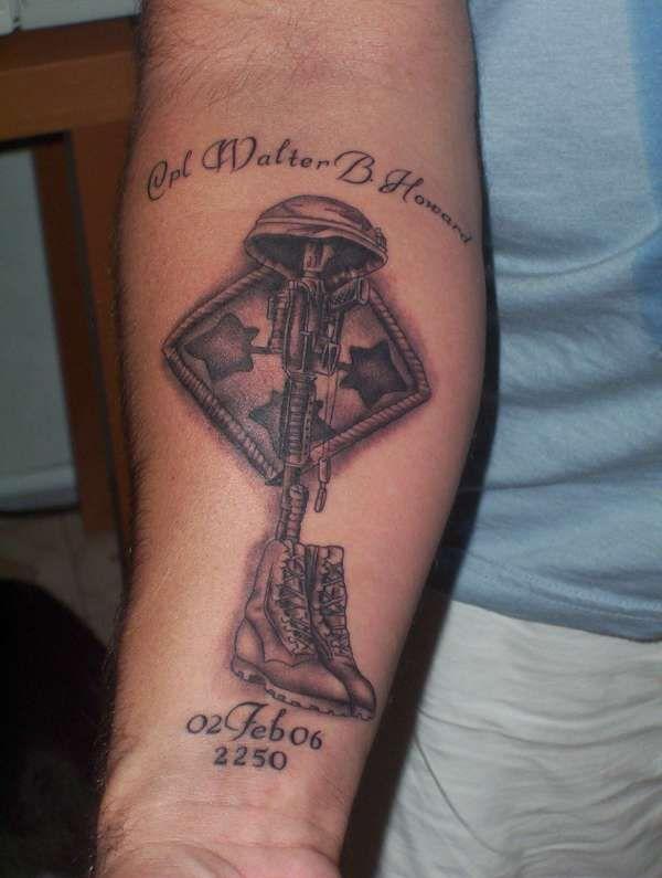 tribute tattoos | Fallen Soldier Tribute Tat tattoo