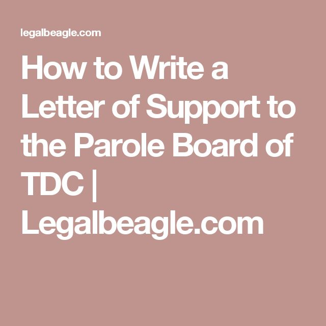Parole Support Letter Template from i.pinimg.com
