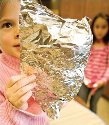 a lesson on being God's image with tinfoil and your Bible. I Peter 1:15-16. with older kids before they crumple the foil ask if they can see their face. is it a good reflection or a poor one. spend a little bit of time on how we can be better reflections of Christ.
