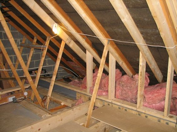 Attic:Some of the trusses have been removed and new strenthening timbers put in place.