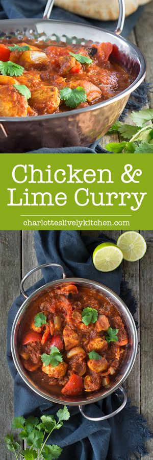 This healthy chicken & lime curry is easy to make and jam-packed full of flavour from the homemade curry paste. It's low in calories and more than 3 of your 5-a-day, great if you're on a diet or the perfect excuse for an extra naan bread and onion bhaji! Gluten Free.