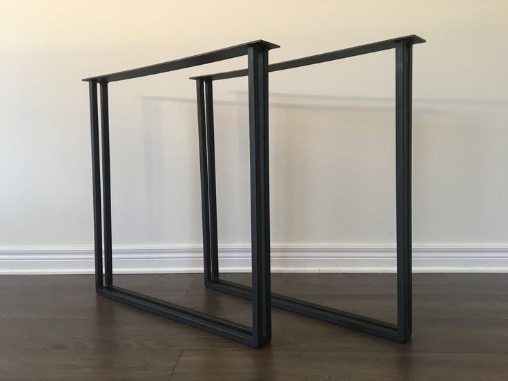 Dual Square Table Legs - square table legs, metal table legs, diy table legs, sturdy table legs, heavy duty table legs, steel table legs, table legs