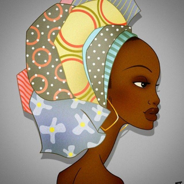 C'est en explorant Instagram que nous avons découvert Raul Guerra, un artiste espagnol qui réalise des peintures et des illustrations. Sous le pseudo Instagram @africanized_me, il publie ces très belles oeuvres représentant des portraits de femmes africaines portant un attaché de foulard. Ces dessins sont d'un réalisme frappant: les traits des femmes, les couleurs douces ...