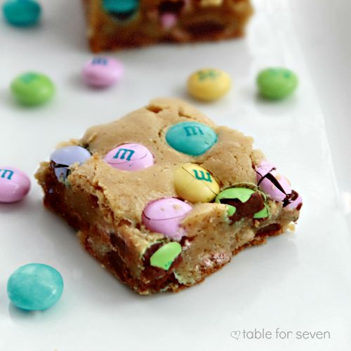 table for seven: MM Cookie Bars