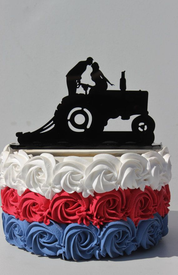 Country Western Redneck Farm Tractor wedding cake by CarolinaCarla, $48.88