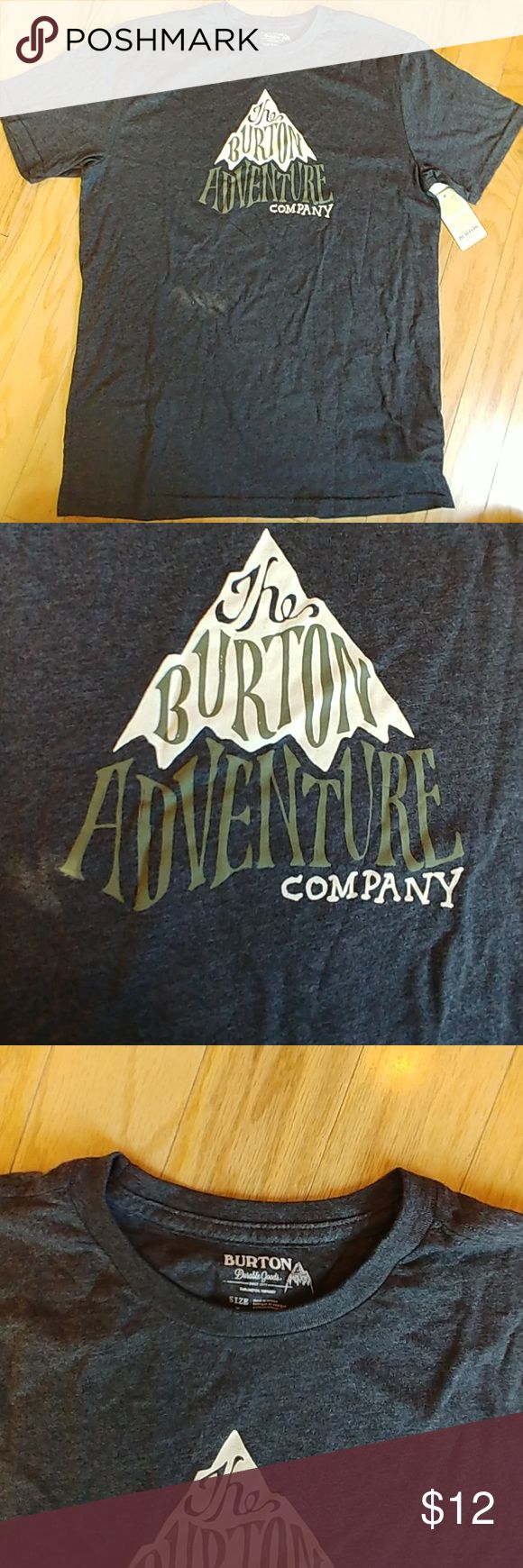 Burton Snowboard tee shirt Nwt Super soft Burton Snowboard tee shirt in heather black Nwt Burton Shirts Tees - Short Sleeve