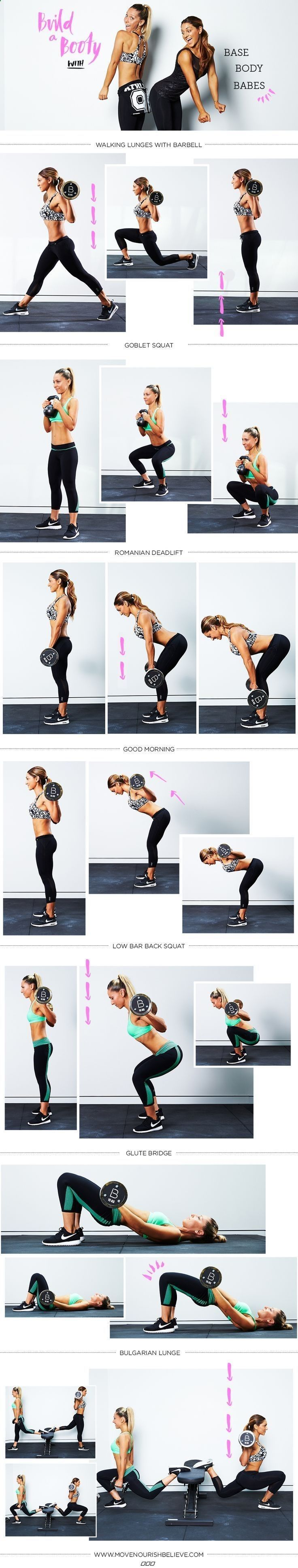Diy Booty Workout Legs Fitness Butt Exercise Home Exercise Diy