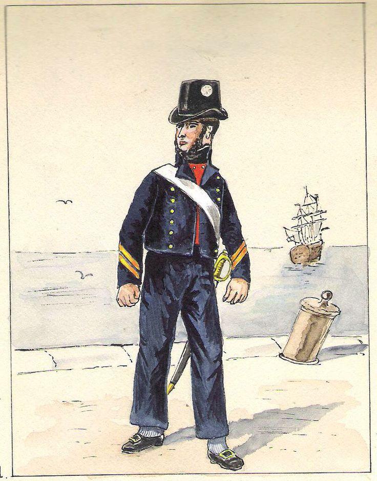 Marine Royale Quartier-Maître tenue de service (1814-1815 )