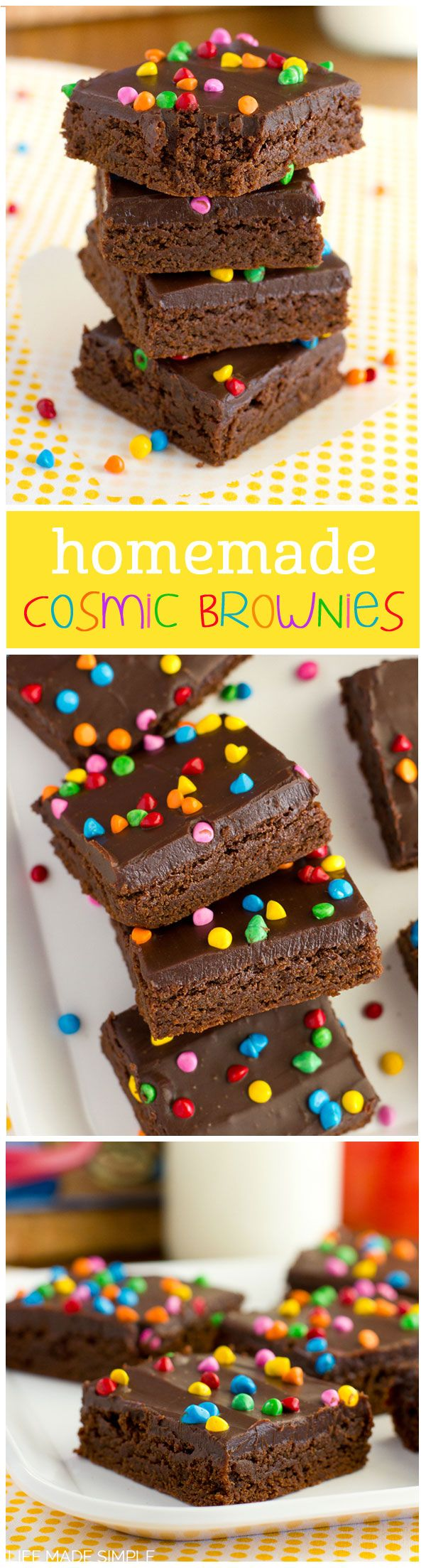 Homemade Cosmic Brownies | Life Made Simple