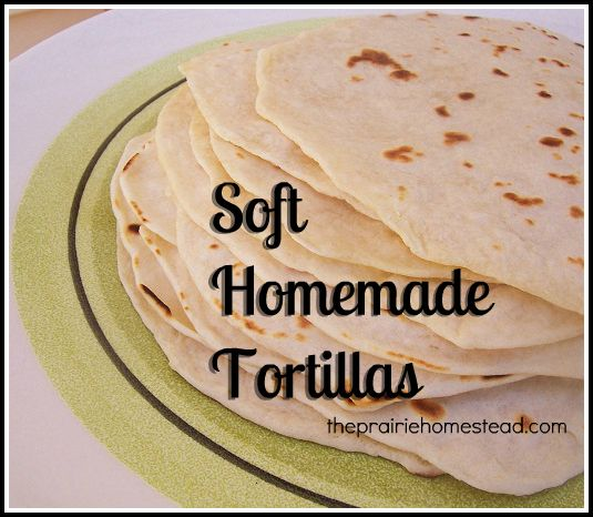 homemade tortillas: Homemade Tortillas, Homemade Flour Tortillas, Prairie Homesteads, Soft Tortillas, Homemade Soft, Coconut Oil, 4 Ingredients, Tortillas Recipes, Soft Homemade