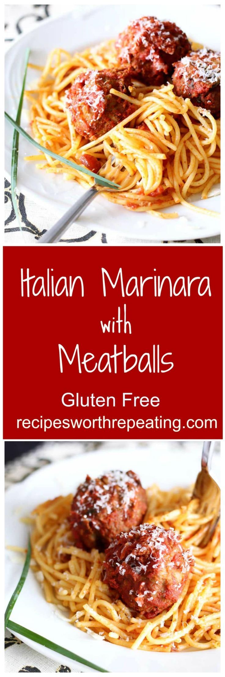 There's nothing better than a homemade authentic Italian Marinara with Meatball dish that has been passed down for decades!. This pasta recipe features a sauce made with fresh basil and oregano mixed with crushed tomatoes and classic Italian herbs and spices. The meatballs have fresh basil and oregano mixed in and are big and full of flavor with every bite!