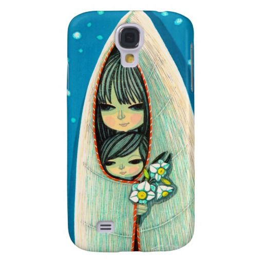 Daffodil Ikeda Shuzo oriental lady and child art Case-Mate Barely There Samsung Galaxy S4 Case