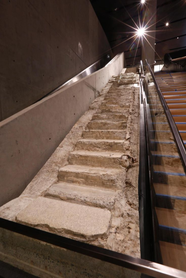 """The """"Survivors' Stairway,"""" a key escape route for the hundreds of people fleeing the World Trade Center during the time of the attacks, is among the artifacts on display.  #911Memorial"""