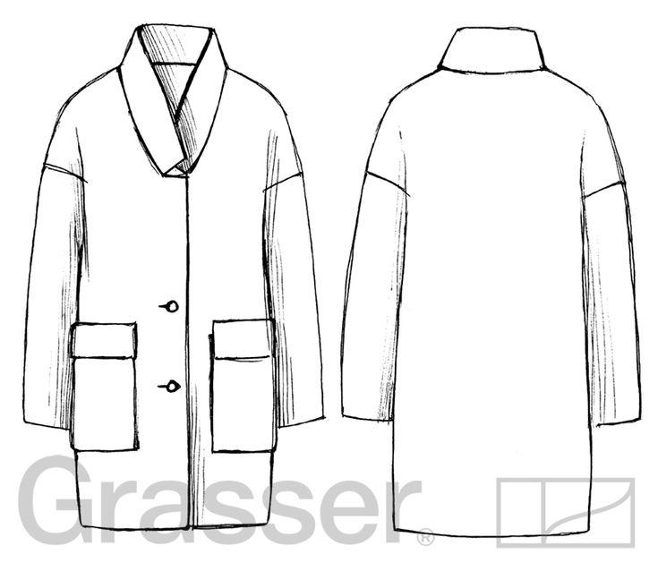Выкройка пальто, модель №145, магазин выкроек grasser.ru