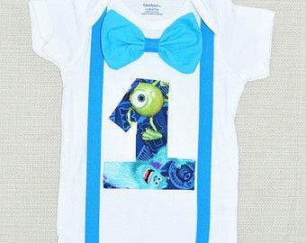 camiseta de Monsters Inc Monsters Inc cumpleaños mono por RYLOwear